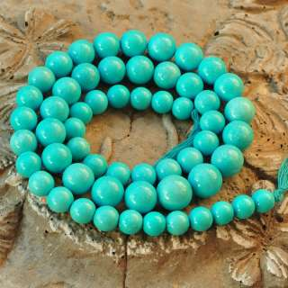 14.6MM Sleeping Beauty Turquoise Round Bead 24.5