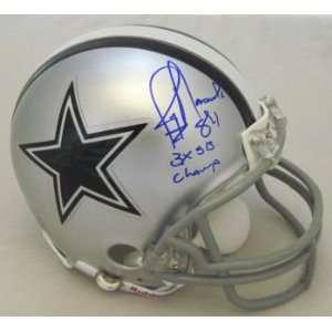 Jay Novacek Autographed Dallas Cowboys Mini Helmet W/3x