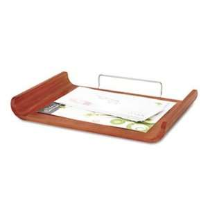 Desk Tray, Single Tier, Bamboo, Letter, Natural Finish