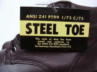 NEW MENS IRON AGE STEEL TOE WORK BOOTS SIZE 8.5 M