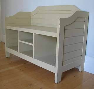 COTTAGE STYLE Nantucket Storage BENCH Solid Wood Fine Quality