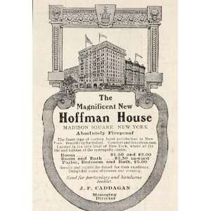 1908 Ad Hoffman House Hotel Madison Square New York
