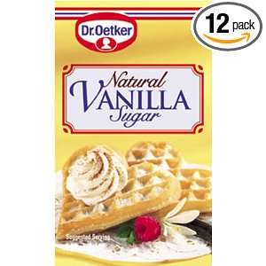 Dr. Oetker Natural Vanilla Sugar, 1.68 Ounces 6 Count Packages (Pack