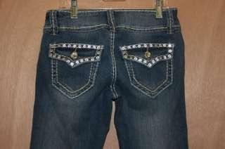 Miss Chic Jeans**   Rhinestone Pockets   style 1207B