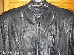 Harley Davidson Perforated Leather Jacket Vents Armor M