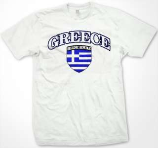 Greece Hellenic Republic Greek Flag Shield T Shirt Tee