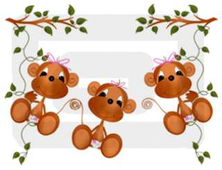 HANGING FROM A VINE NURSERY BABY GIRL WALL BORDER STICKERS DECALS