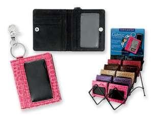 New Flat Mini Clutch Leather Wallets Red Black Brown Tan Pink Purple