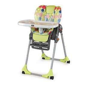 Chicco Polly High Chair (dbl Pad)   Splash vinyl: Baby