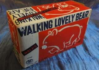 TM Modern toys   Wind up   Walking Lovely Bear   in box   1960s