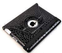 iPad 2 360° Rotating Magnetic Leather Case Smart Cover With Swivel
