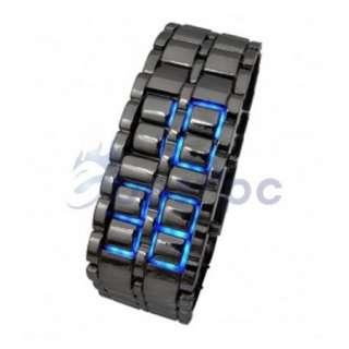 US Blue LED Digital Watch Lava Style Mens Ladies Sports Fashion Wrist