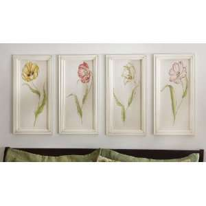 Vintage marjorie brice print wall art wood frame prints - Vintage inspired wall art ...
