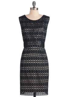 Mid length, Formal, Black, White, Lace, Sheath / Shift, Sleeveless
