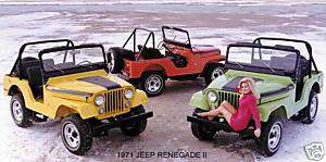 1971 JEEP RENEGADE II (YELLOW/RED/GREEN) MAGNET