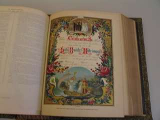 Huge Pictorial Family Holy Bible Illustrated 1880s