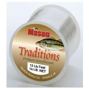 Mason Tackle Company TRA 8 14 Traditions Premium Monofilament   14 lb.