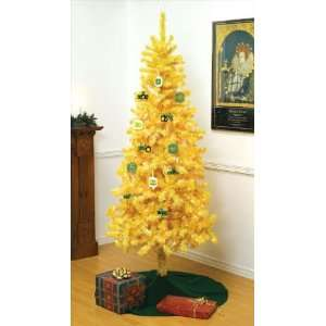 7 ft John Deere Yellow Christmas Tree