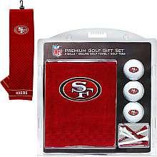 Team Golf San Francisco 49ers Golf Balls, Tees and Towel with Clip Set