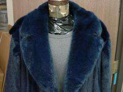 Mens Mans NAVY BLUE MINK COAT $19,000 Ultimate LUXURY