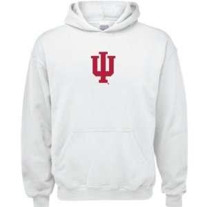 Indiana Hoosiers White Youth Logo Hooded Sweatshirt