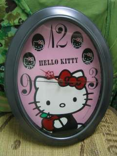 Sanrio Hello Kitty Classical Apple Oval Wall Clock