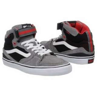 Athletics Vans Mens Owens Hi 2 Grey/Black/Red Shoes