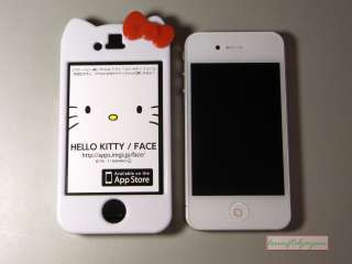 Cute Hello Kitty Character EAR Hard Case Cover for iPhone 4G 4S+Screen