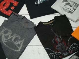 QUIKSILVER DC VOLCOM Mens Surf Skate T Tee Shirt Lot Sz Medium M