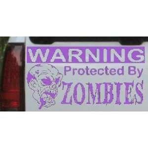 6in    Protected By Zombies Funny Car Window Wall Laptop Decal Sticker