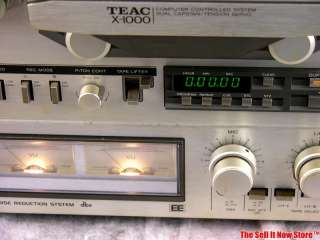 X1000 X 1000 9 Stereo Reel to Reel Tape Deck Open Recorder Player
