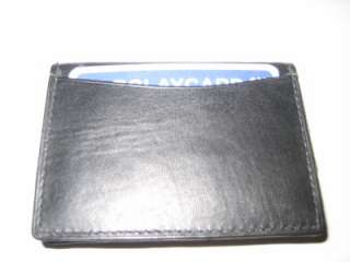 High Quality THIN Black Leather Credit Card Small Wallet. **