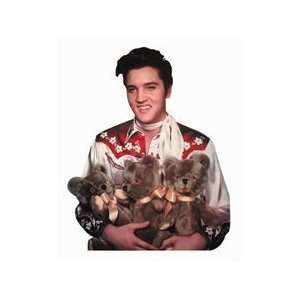 Elvis Loving You Teddy Bears Die Cut Photographic Magnet
