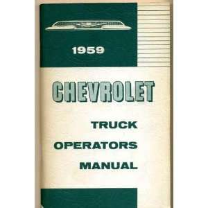 for 1959 Chevrolet Light, Medium and Heavy Duty Trucks Unknown Books