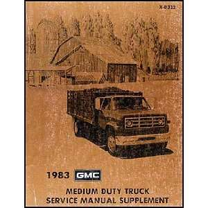GMC Medium Duty Truck Repair Shop Manual Original Supplement GMC