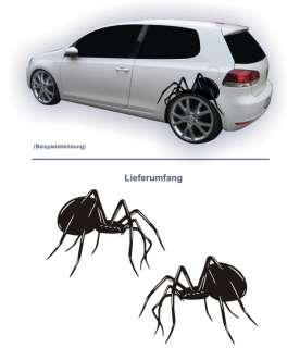 SPIDER Seitenaufkleber Tattoo Car Style Spinne Set S19