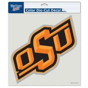 Oklahoma State 8x8 COLOR Die Cut Window Decal Sports