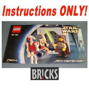 INSTRUCTIONS ONLY Star Wars LEGO #7204 JEDI DEFENSE II
