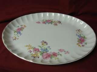 Vintage W.S George, China Dinnerware Patt# 586748H Pink Rose Platter