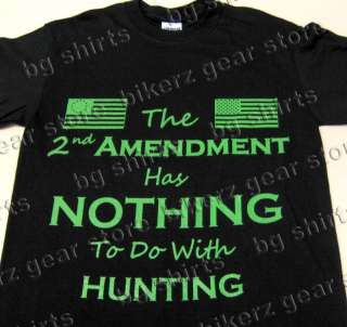 2nd AMENDMENT Short Sleeve T shirt Biker Tea Party   2X 3X Pro Gun USA