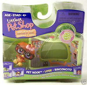 NEW Littlest Pet Shop LPS 354 Owl Glasses Library Nook