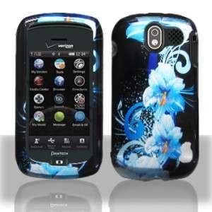 Fit PANTECH CRUX Phone Cover Hard Case BLUE FLOWER