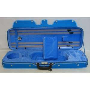 SKY Oblong Violin Case 4/4 Full Size (Light Blue) Musical Instruments