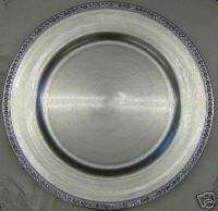 13 Silver Acrylic Charger Plate with rhinestone trim