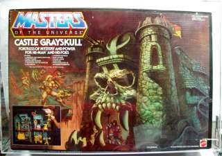 He Man MOTU Masters Mattel Castle Grayskull MISB AFA 80