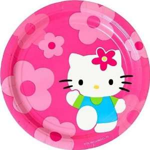 Hello Kitty Flower Fun Lunch Plates 8ct Toys & Games