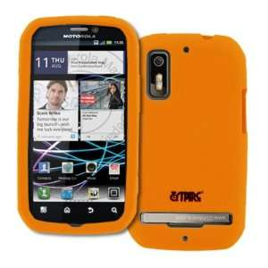 EMPIRE Orange Silicone Skin Case Cover for Sprint Motorola