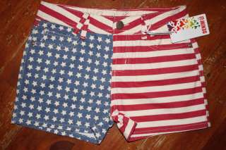 AMERICAN FLAG USA SHORTS Girls 7 8 9 10 11 12 13 Primark BNWT