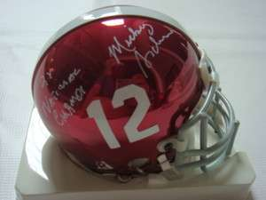 Mickey Andrews Signed Autographed Bama FSU Roll Tide Chrome Helmet