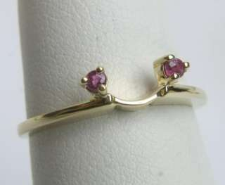 VINTAGE LADIES ESTATE 14K SOLID GOLD RUBY WRAP RING